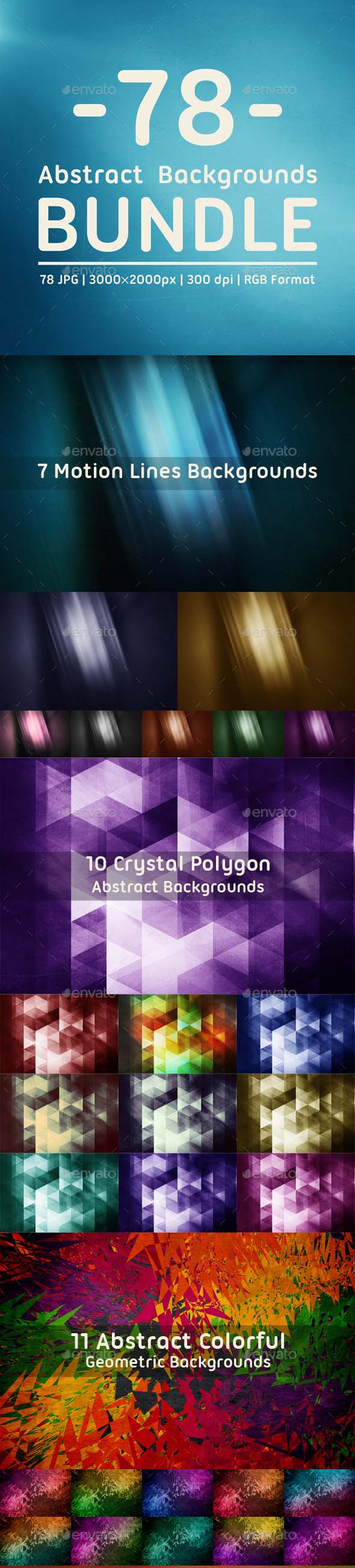 78 Abstract Backgrounds Bundle