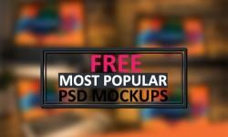 20+ Most Popular Free PSD Mockups 2015