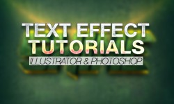 30+ Best Text Effect Illustrator & Photoshop Tutorials