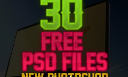 30 New Photoshop Free PSD Files for Designers