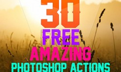 30 Best Amazing Free Photoshop Actions