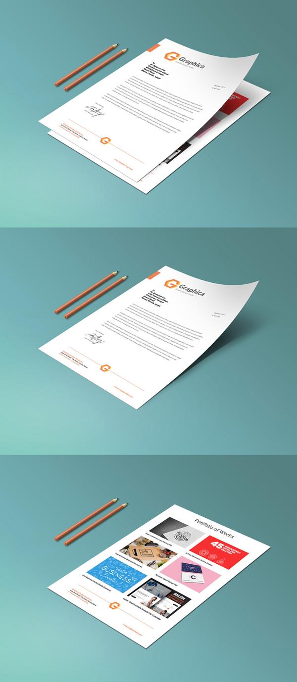 13_Paper Portfolio Mockup PSD