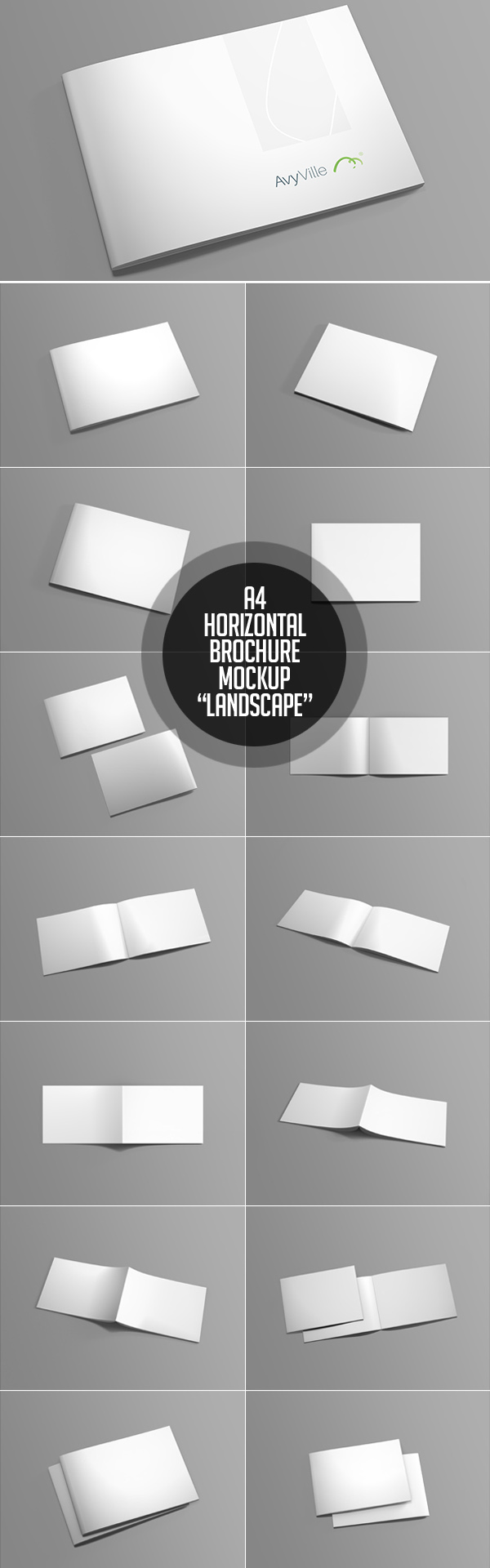 15_Landscape Brochure PSD Mockup