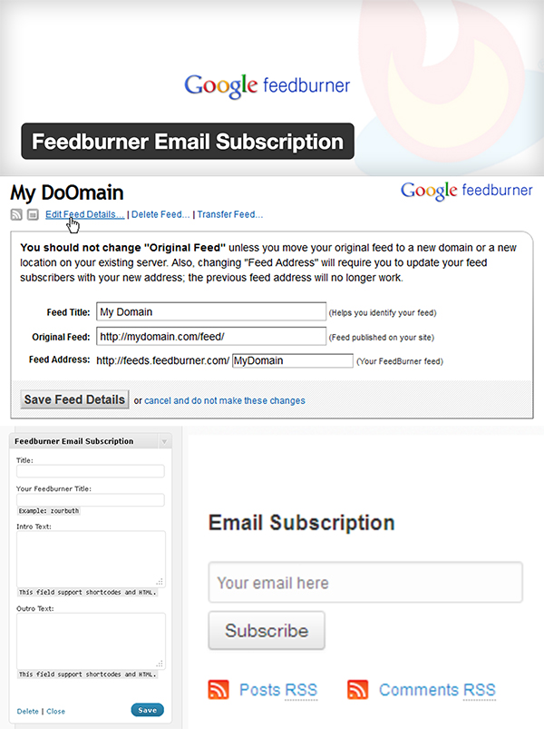 01 Feedburner Email Subscription