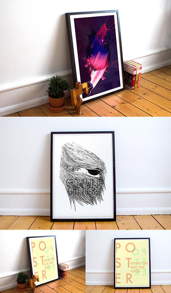 01 Free Poster Frame Mockup
