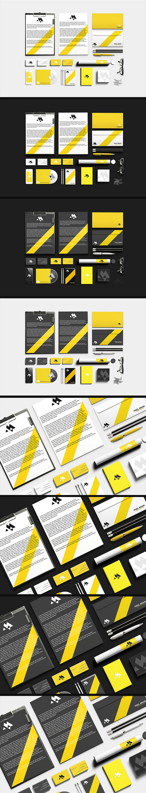 01 Stationary : Branding Mock-up Vol. 1