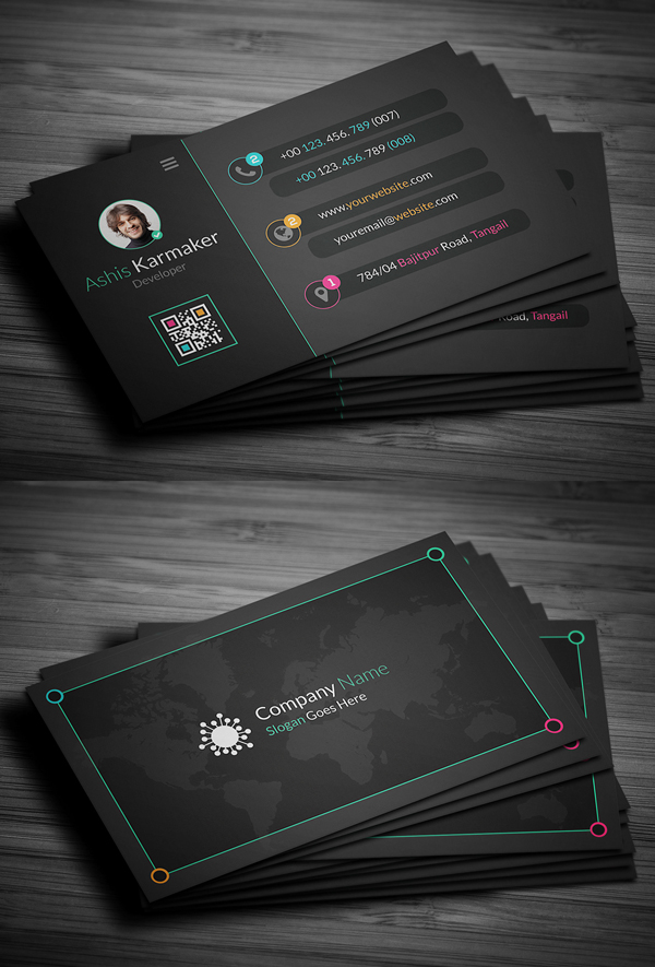 02 Creative Dark Business Card Design