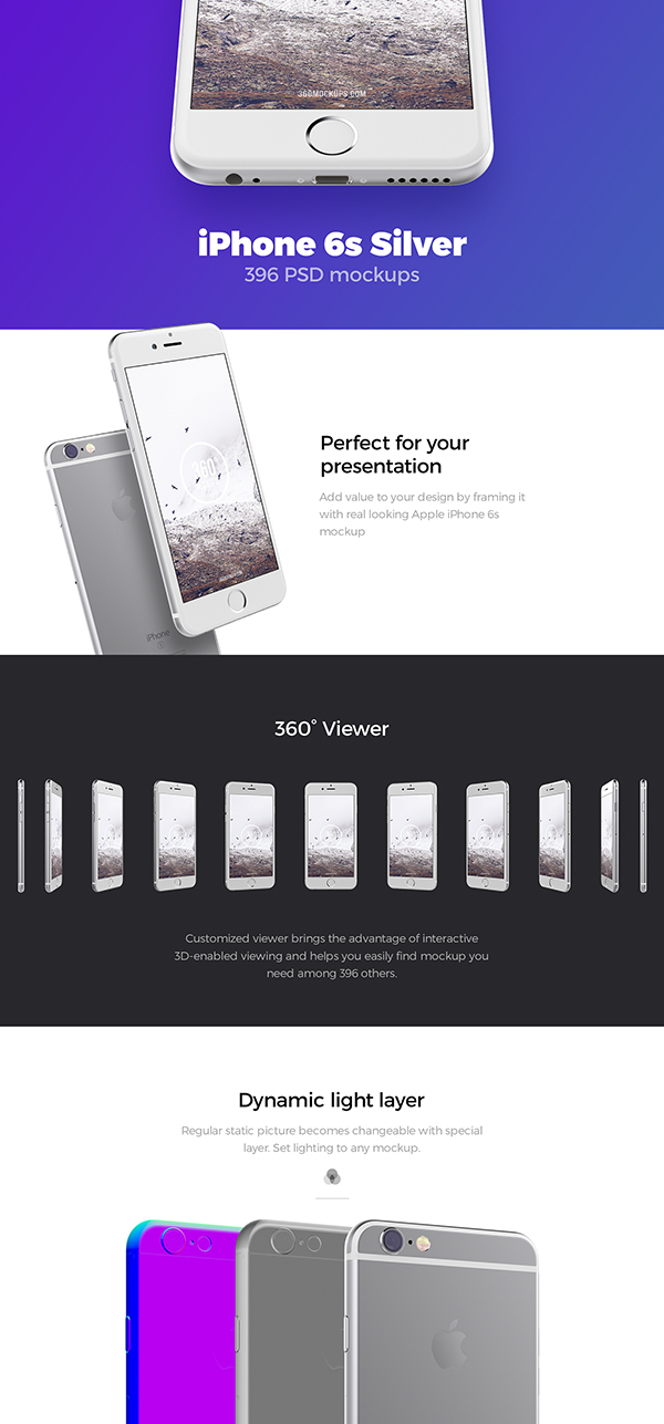 02 Free iPhone 6s Silver mockups