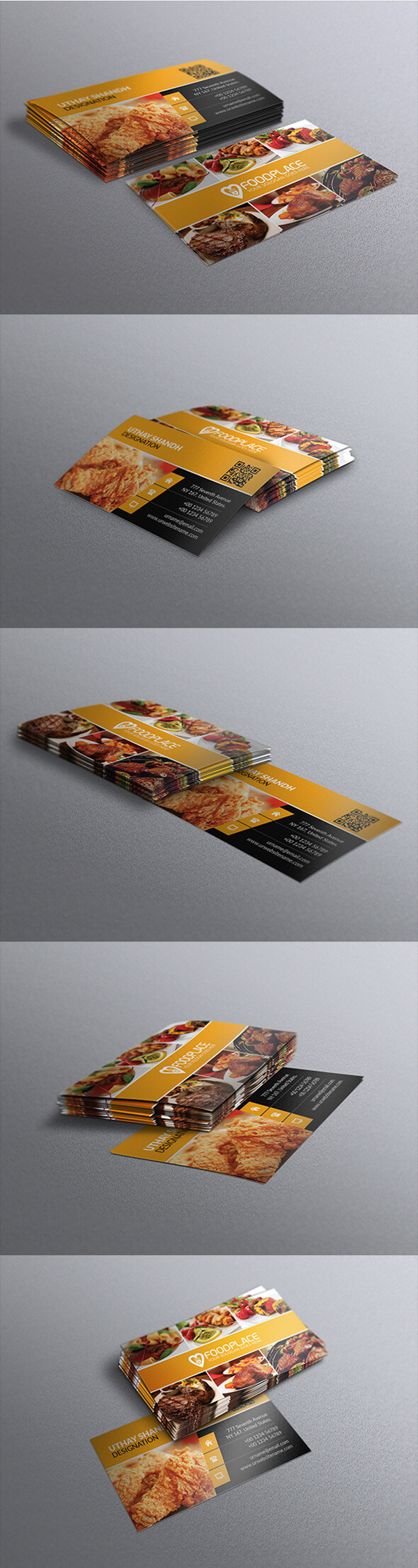 03 Free Restaurant Business Card Template