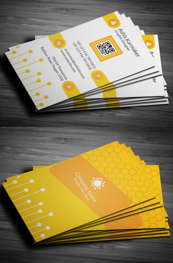 04 Honeycomb Business Card Design
