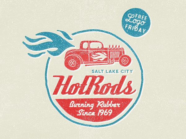 04 HotRods - Free Logo Friday