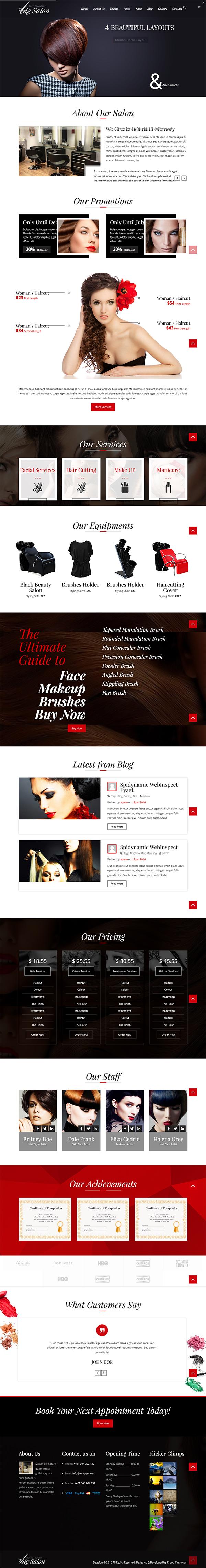 05 Big Salon - WordPress Theme for Hair Salon