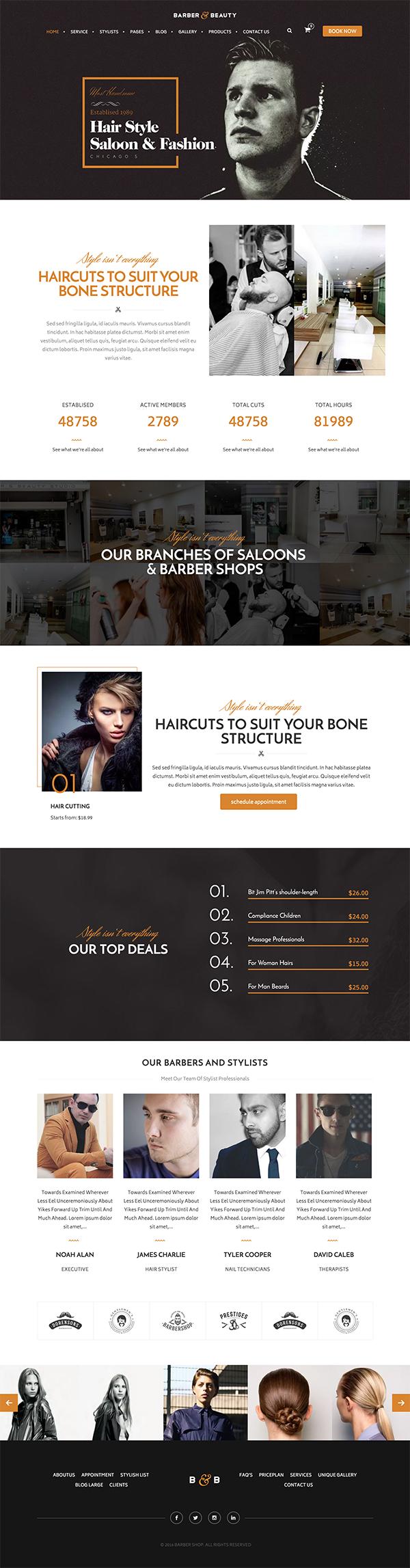 06 HairLoom | Responsive WordPress Theme