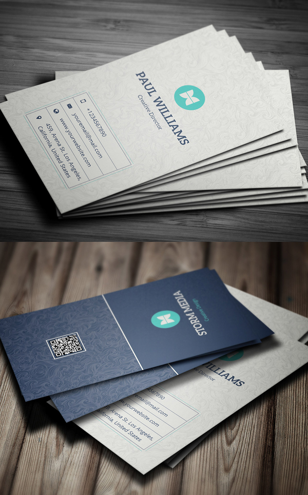 07 Clean Corporate Business Card Design