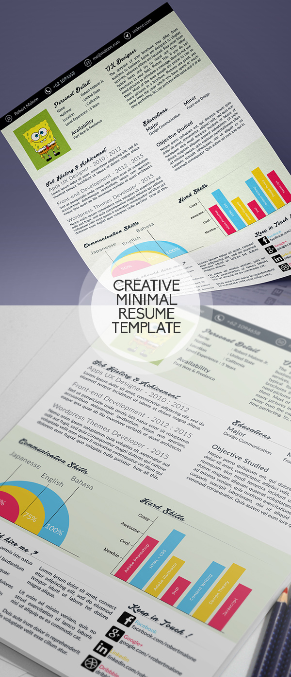 07 Clean : Minimal PSD Resume Template