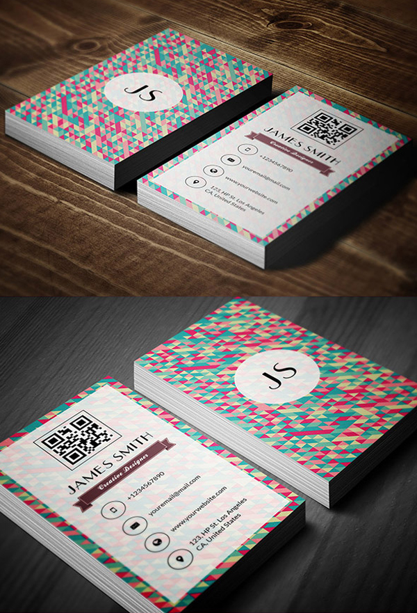 08 Retro Style Business Card Design