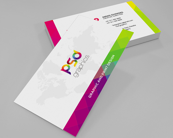 11 Colorful Business Card Free PSD Graphics
