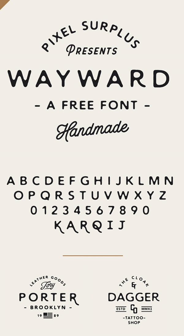 11 Wayward Free Font