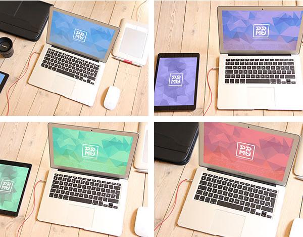12 Free PSD Mockup Set