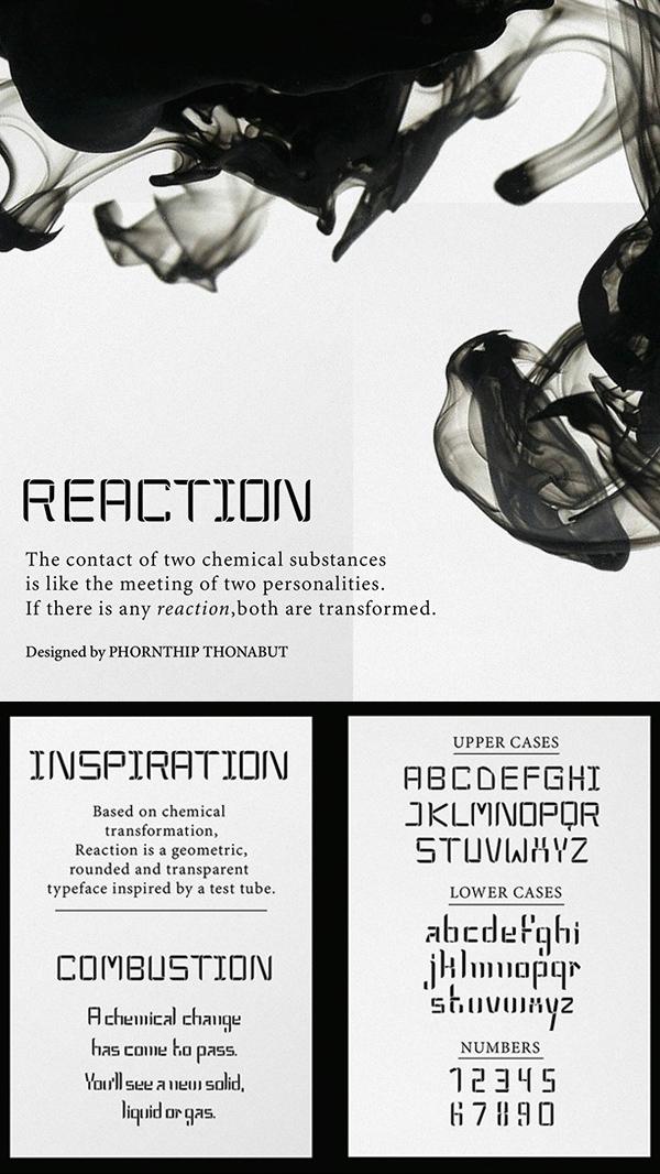 14 Reaction Free Font