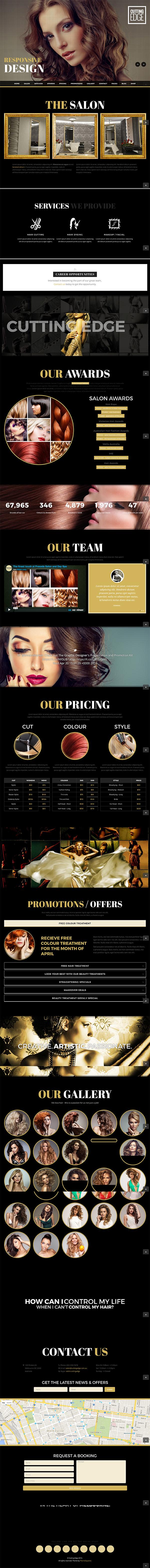 15 Cutting Edge - Spa Hair Salon WooCommerce WP Theme