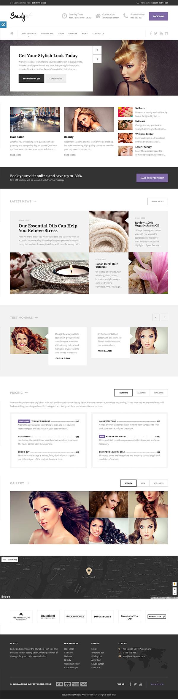 16 Beauty - Hair Salon, Nail, Spa, Fashion WP Theme