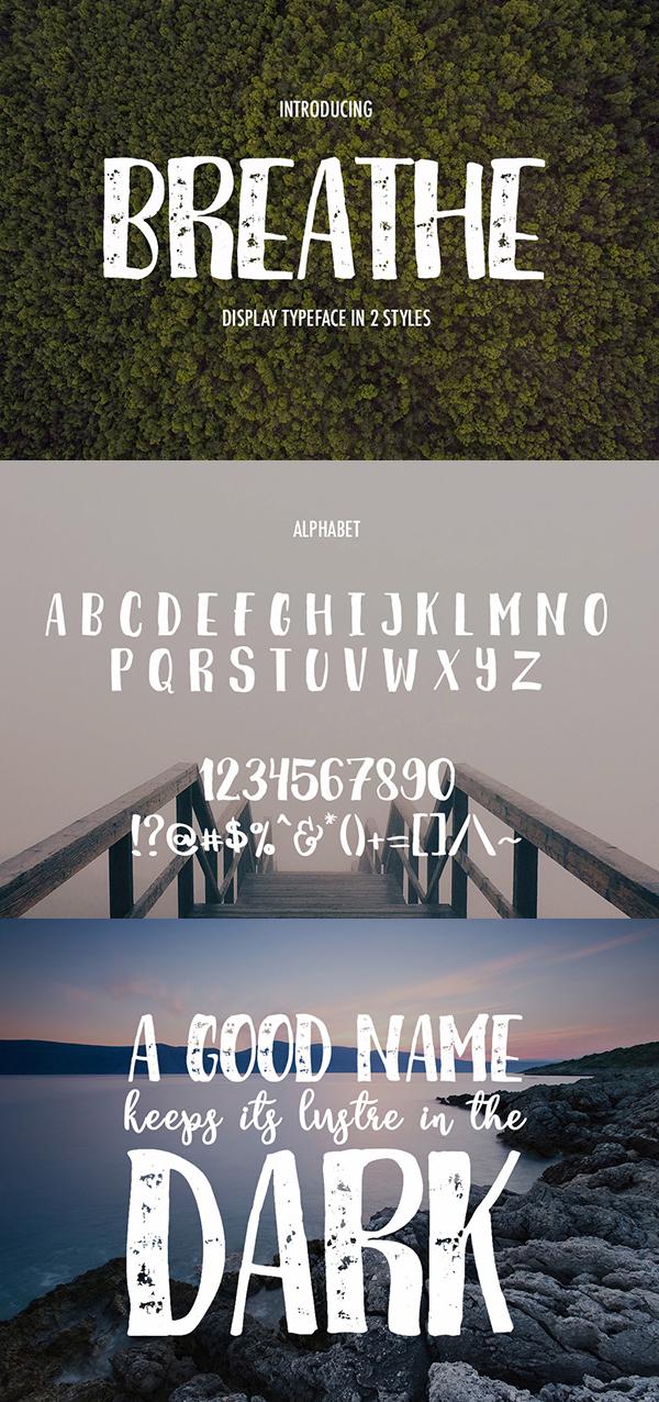 16 Breathe Free Font