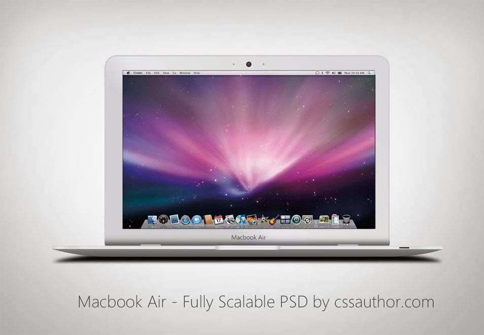16 Freebie MacBook Air PSD