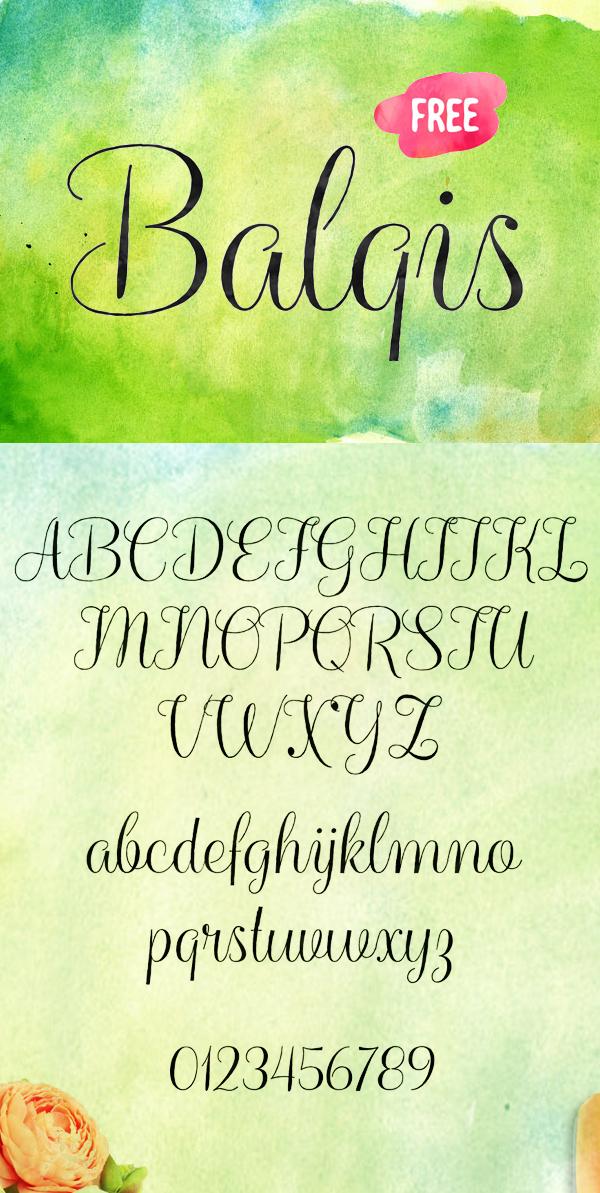 20 Balqis Free Font