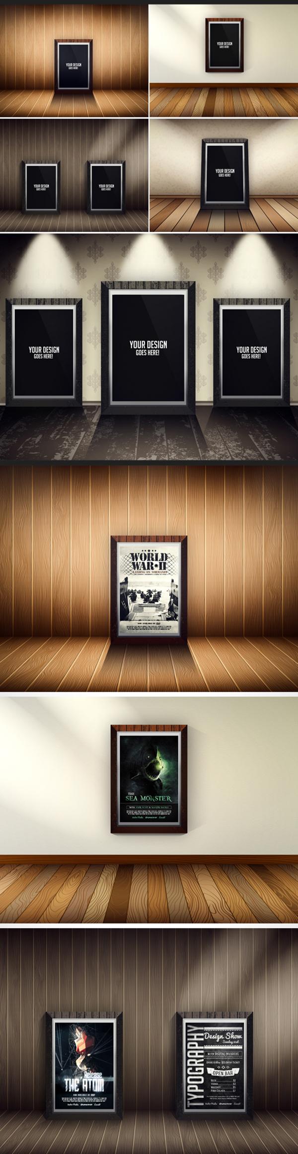 20 Free Flyer Poster Mockups