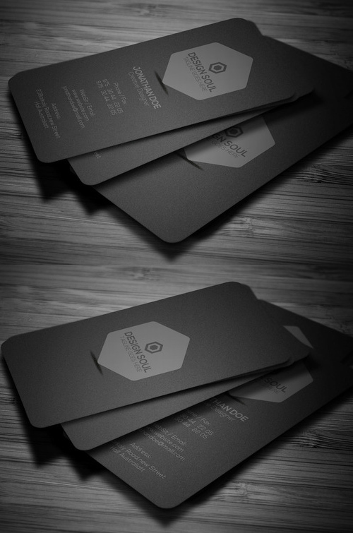 20 Minimal Dark Business Card