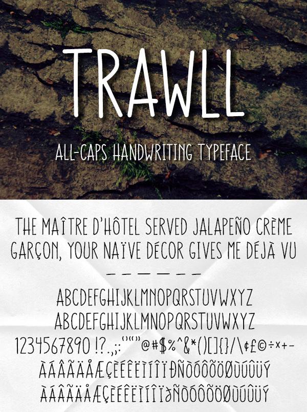 21 Trawll Free Font