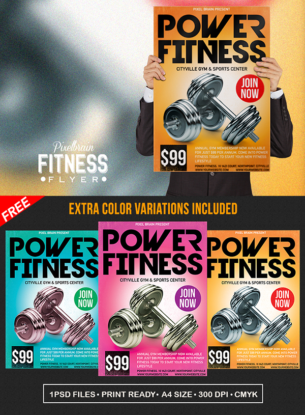 23 Free Fitness Gym Flyer