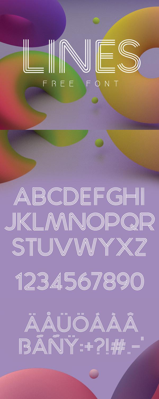 24 Lines Free Font