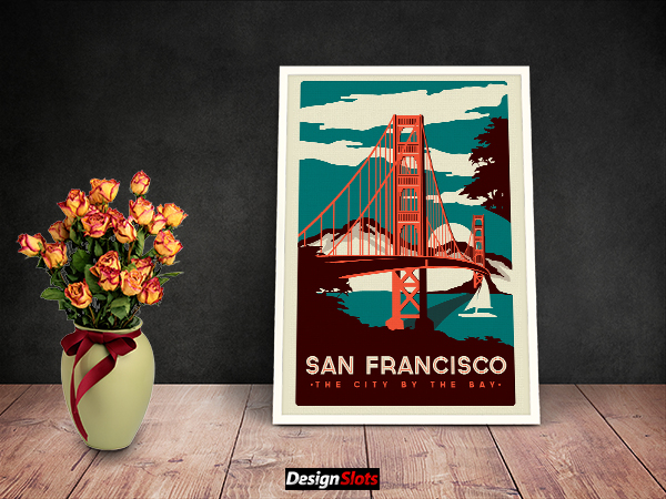 30 Free Artwork Frame Mockups Design