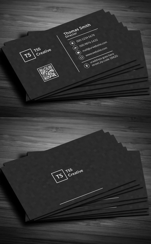 33 Modern Dark Pixels Business Card