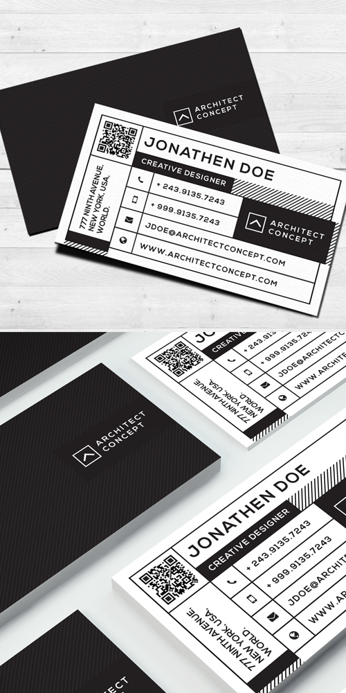 36 Modern studio business card