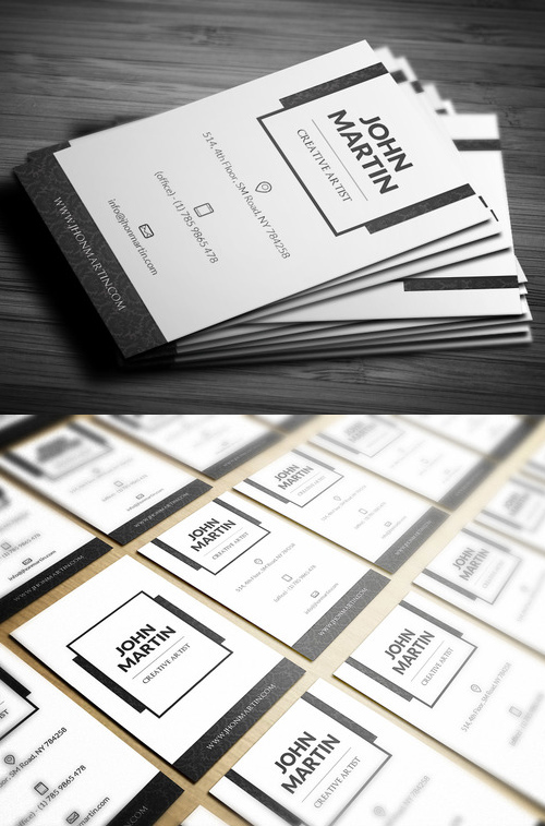 40 Clean Royal Individual Business Card