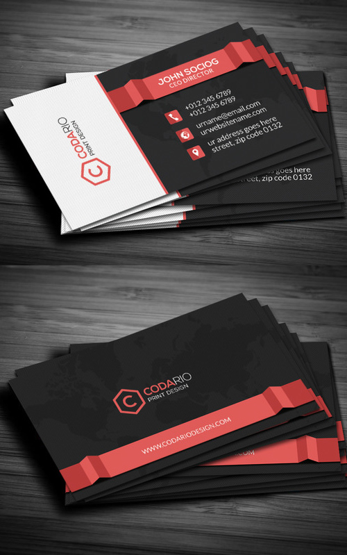 45 Modern Corporate Business Card