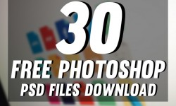 30 New Photoshop Free PSD Templates for Graphic Designers