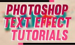 15 Best Adobe Photoshop Text Effect Tutorials