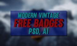 23 Free Modern Vintage, Retro PSD, AI Badges