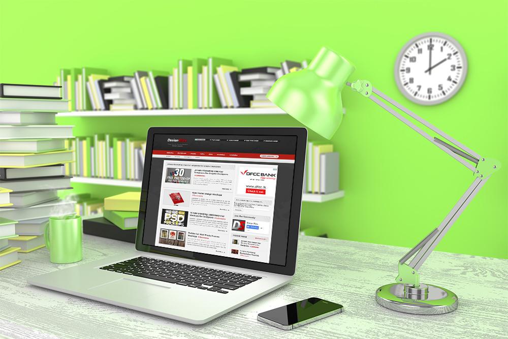 MacBook Workspace MockUp