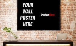Poster MockUp Scene PSD Free Download