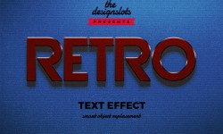 Retro Vintage Text Effect Free Download