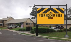 Roadside board Ad Placement Mockup PSD