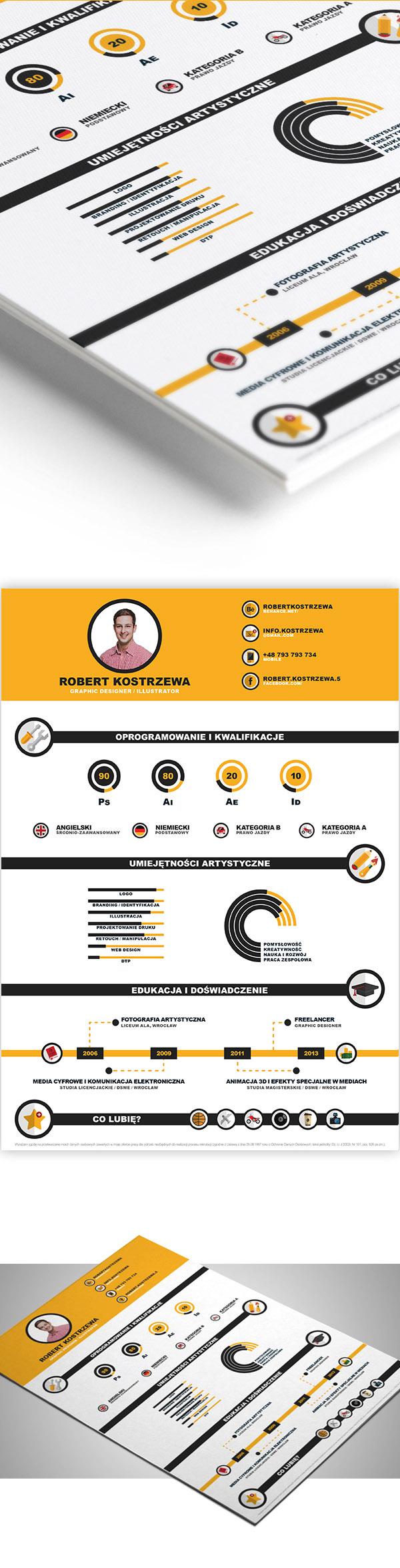01 Infographic Cv:Resume