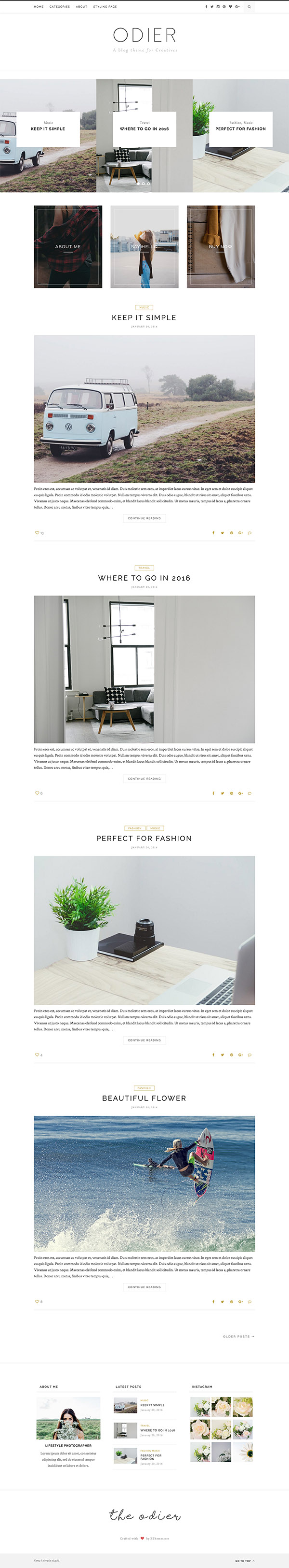 03 Odier - Simple & Elegant WordPress Blog Theme