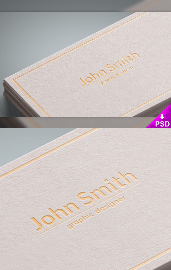 03 White Business Cards Mockup