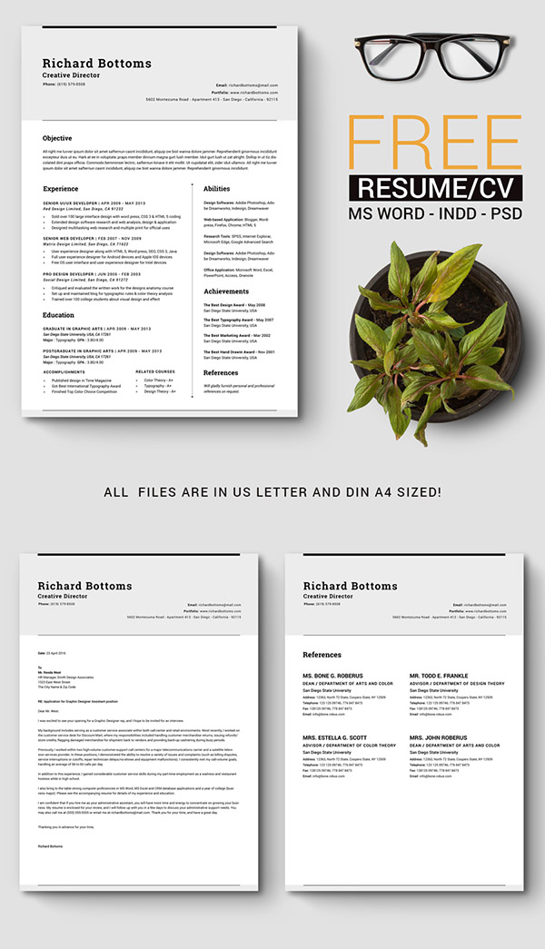 05 Free Timeless Resume CV